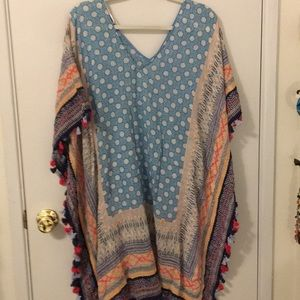 Colorful and fun swim cover-up or with jeans